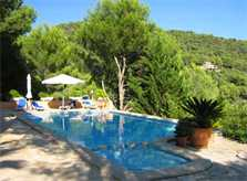 Poolblick Ferienhaus Mallorca Südosten mit Pool für 4 Personen PM 605