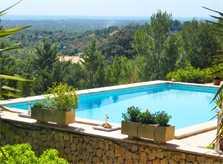 Poolblick 3 Ferienhaus Mallorca Südosten mit Pool für 4 Personen PM 605