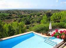 Poolblick 5 Ferienhaus Mallorca Südosten mit Pool für 4 Personen PM 605