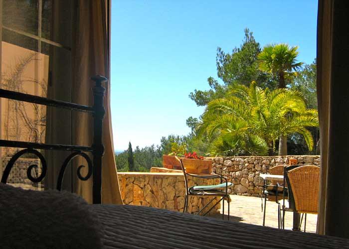 Blick Ferienhaus Mallorca Südosten mit Pool für 4 Personen PM 605