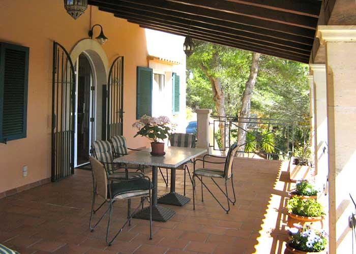 Terrasse 2 Ferienhaus Mallorca Südosten mit Pool für 4 Personen PM 605