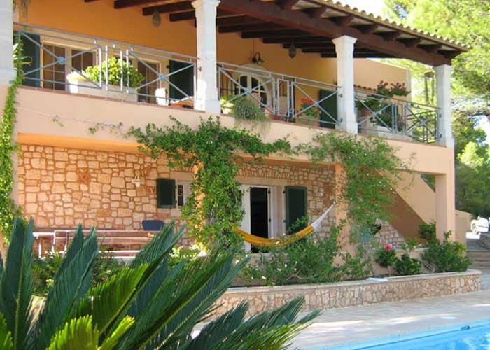 Blick auf die Poolvilla Mallorca Südosten für 4 Personen PM 605