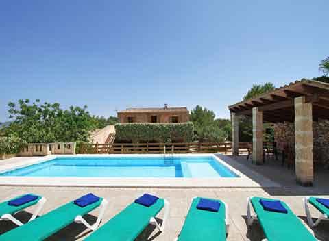 Poolblick Finca Mallorca 12 - 13 Personen PM 6073