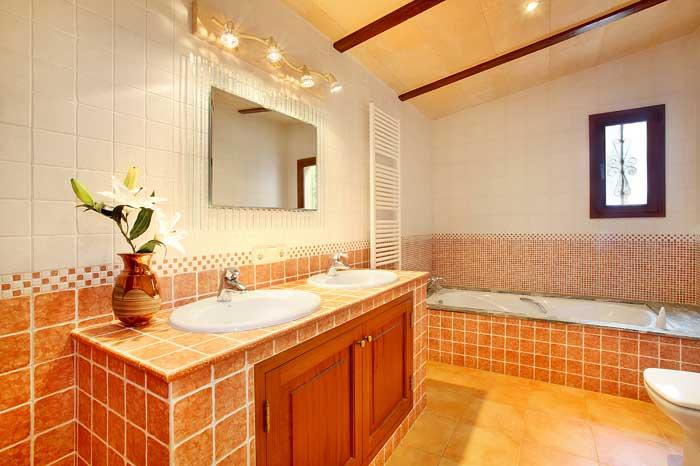 Bad 2 Ferienhaus Mallorca mit Pool PM 6091