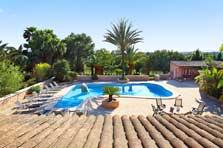 Poolblick Ferienhaus Mallorca 12 Personen PM 6091