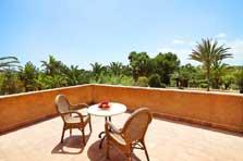 Terrasse oben Ferienhaus Mallorca mit Pool und Klimaanlage PM 6091
