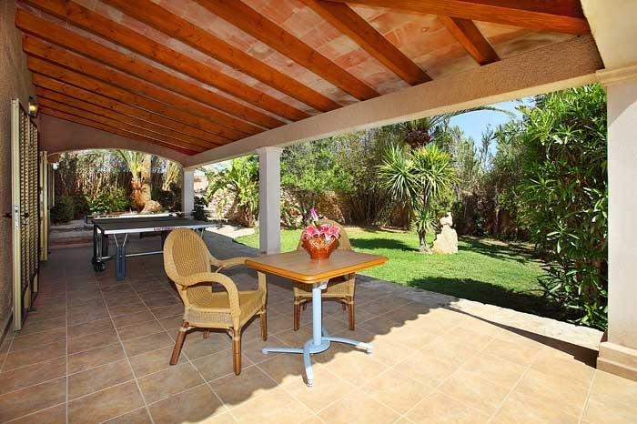 Tischtennisplatte Ferienhaus Mallorca mit Pool und Klimaanlage PM 6091