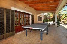 Tischtennis Finca Mallorca 12 Personen großer Pool PM 6091