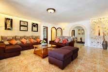 Großer Wohnraum Ferienhaus Mallorca mit Pool PM 6091