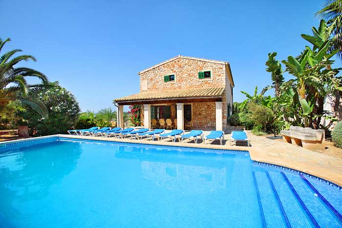 Großer Pool Finca Mallorca im Südosten 10  Personen PM 6092