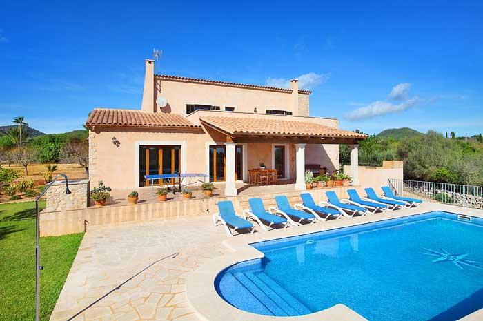 Außenbereich mit Pool Finca Mallorca PM 6093