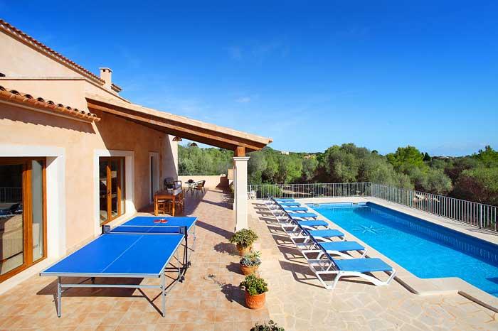 Pool und Tischtennis Finca Mallorca PM 6093