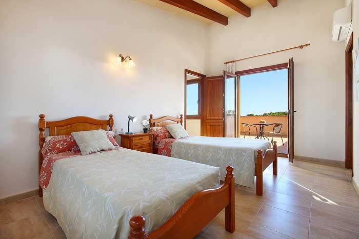Zweibettzimmer 1. Stock Finca Mallorca Südostküste PM 6093