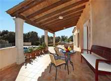 Möblierte Terrasse Finca Mallorca Südostküste PM 6093