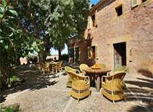 Außensitzbereich der Terrasse Exklusive Finca Mallorca mit 8 Schlafzimmern, Pool und Klimaanlage PM 6094