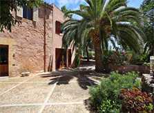 Terrasse mit Palmen und Pflanzen Exklusive Finca Mallorca mit Klimaanlage PM 6094
