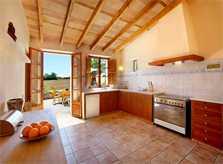 Vollständig ausgestattete Küche Exklusive Finca Mallorca mit großem Pool und schöner Gartenanlage PM 6094
