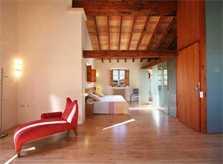 Modernes Schlafzimmer mit Doppelbett Exklusive Finca Mallorca mit Klimaanlage für 16 Personen PM 6094