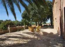 Schattige Sitzplätze Exklusive Finca Mallorca Felanitx mit Klimaanlage und Pool PM 6094
