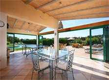 Überdachte Terrasse mit Essplatz Exklusive Finca Mallorca für 16 Personen PM 6094