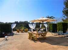 Großer Terrassenbereich mit Essplatz Luxuriöse  Finca Mallorca für 16 Personen PM 6094