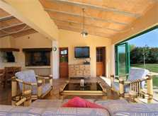 Terrassenlounge Große Finca Mallorca mit Klimaanlage 16 Personen PM 6094