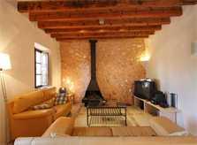 Wohnraum mit SAT-TV und Kamin Exklusive Finca Mallorca für 16 Personen PM 6094
