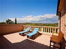 Obere Terrasse Finca Mallorca für 8 - 14 Personen PM 626