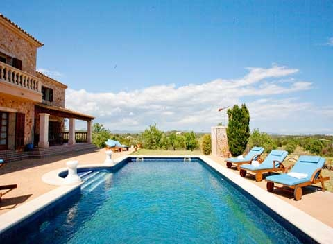 Poolblick Exklusive Finca Mallorca mit Pool für 8 - 14 Personen PM 626
