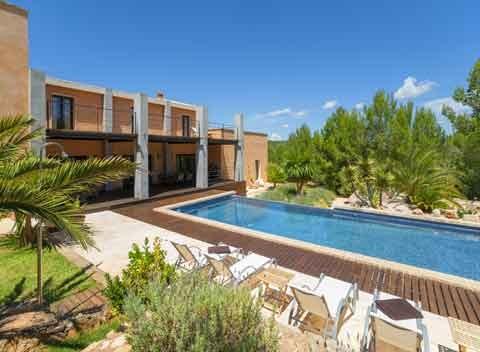 Poolblick Exklusives Ferienhaus Mallorca 10 Personen PM 629