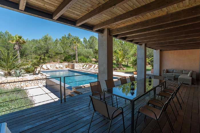 Terrasse 4 Exklusive Finca Mallorca mit Pool PM 629