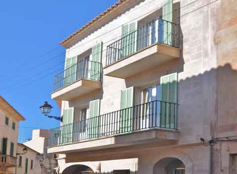 Blick auf die Altstadt Santanyi Ferienwohnung Mallorca 2 Personen PM 6431