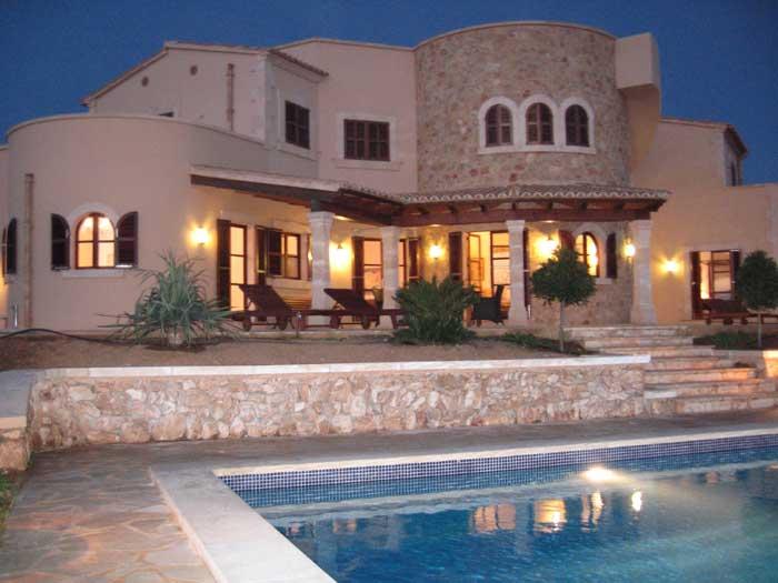 Fina bei Nacht Ferienhaus Mallorca mit Pool für 10 Personen PM 646