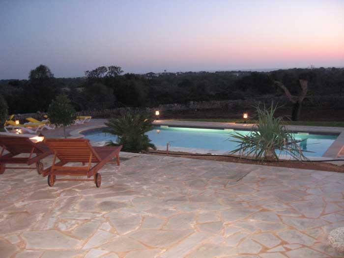 Pool erleuchtet Ferienhaus Mallorca mit Klimaanlage für 10 Personen PM 646