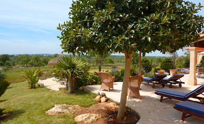 Terrasse 2 Finca Mallorca mit Pool und Klimaanlage für 10 Personen PM 646