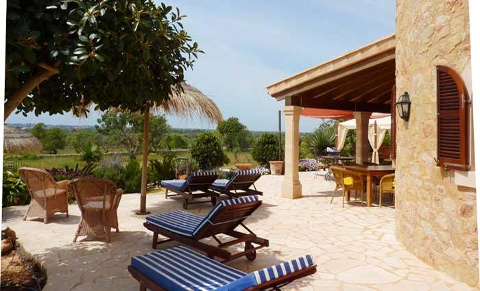 Terrasse und Finca Mallorca für 10 Personen PM 646