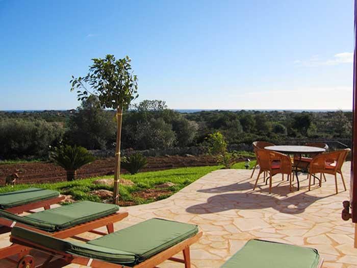 Terrasse 4 Finca Mallorca mit Pool und Klimaanlage für 10 Personen PM 646