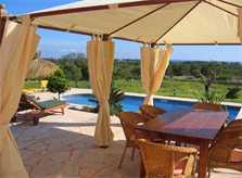 Terrasse 3 Finca Mallorca mit Pool und Klimaanlage für 10 Personen PM 646