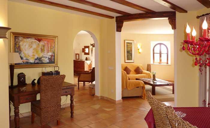 Wohnbereich 2 Exklusive Finca Mallorca mit Pool für 10 Personen PM 646