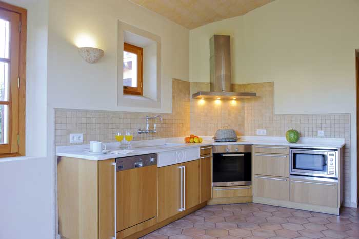 Perfekt ausgestatte Küche Finca Mallorca PM 6543 für 10 Personen Klimaanlage Privatpool