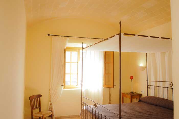 Schlafzimmer mit Doppelbett Große Finca Mallorca für 10 Personen PM 6543 Klimaanlage Internet Privatpool