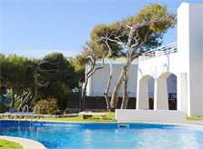 Poolblick Exklusives Ferienhaus Mallorca mit Meerblick Klimaanlage Kinderpoolbecken Großes Grundstück mit Rasenfläche Mallorca Südosten PM 6562