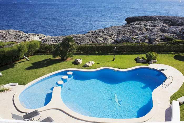 Meerblick und Pool Villa Mallorca für 8 Personen Klimaanlage Mallorca Südostküste PM 6562