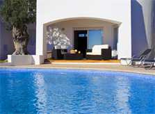 Großer Pool und Terrasse Ferienhaus Mallorca mit Meerblick Klimaanlage Kinderpoolbecken 8 Personen Südostküste Cala D'Or  PM 6562