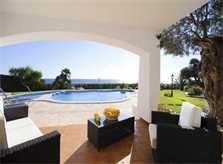 Terrasse mit Meerblick Großes Ferienhaus Mallorca mit Pool und Kinderpool Mallorca Südosten Cala D'Or  PM 6562