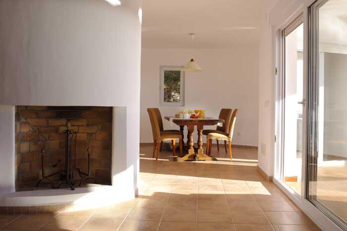 Essplatz Ferienhaus Mallorca mit großem Pool und Kinderpoolbereich Meerblick 8 Personen 4 Schlafzimmer Cala D'Or PM 6562