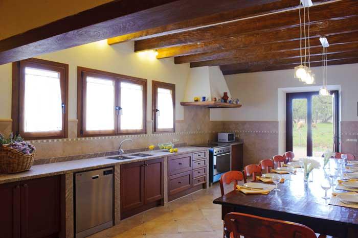 Küche Finca Mallorca Südosten 12 - 14 Personen PM 6563