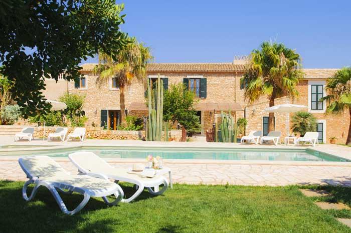 Poolblick Finca Mallorca Südosten 12 - 14 Personen PM 6563