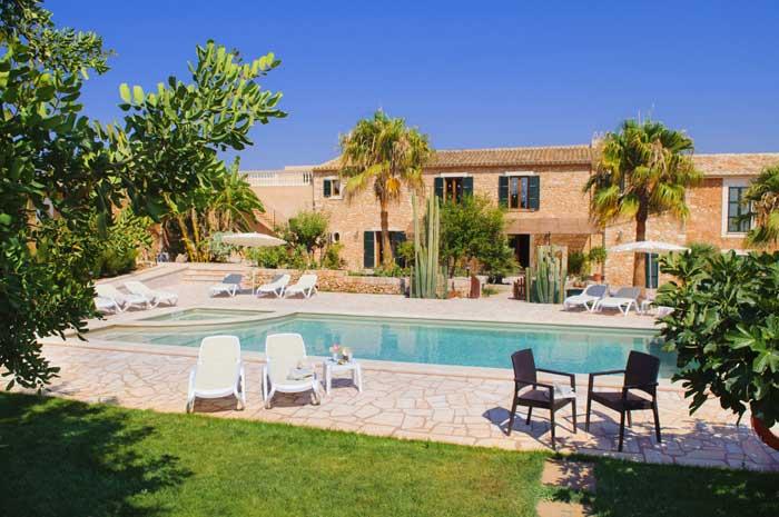 Poolblick 3 Finca Mallorca Südosten 12 - 14 Personen PM 6563
