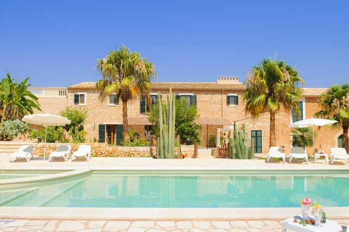 Poolblick 2 Ferienhaus Mallorca Südosten 12 - 14 Personen PM 6563